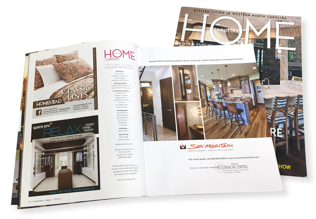 Carolina Home + Garden Magazine Ad