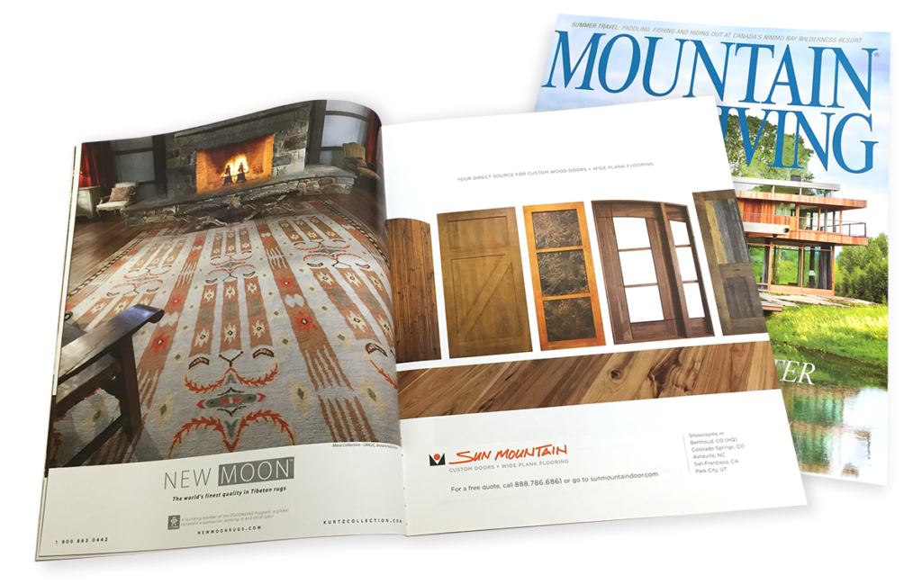 Mountain Living Magazine Ad