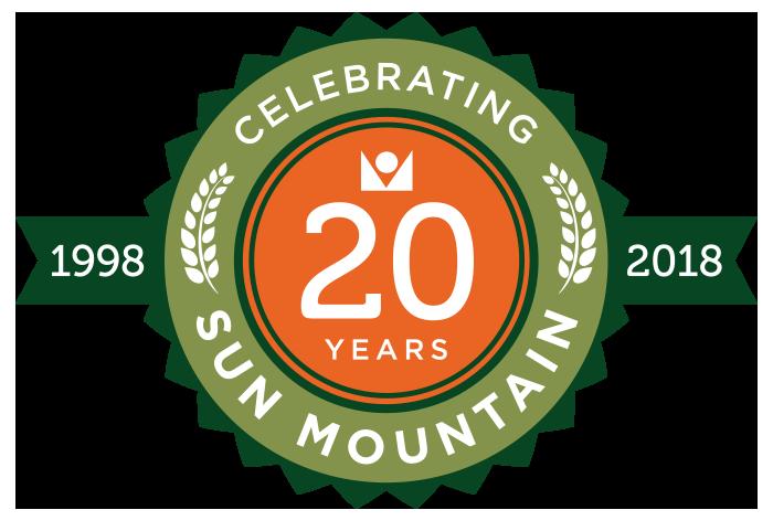 Sun Mountain 20th Anniversary Badge